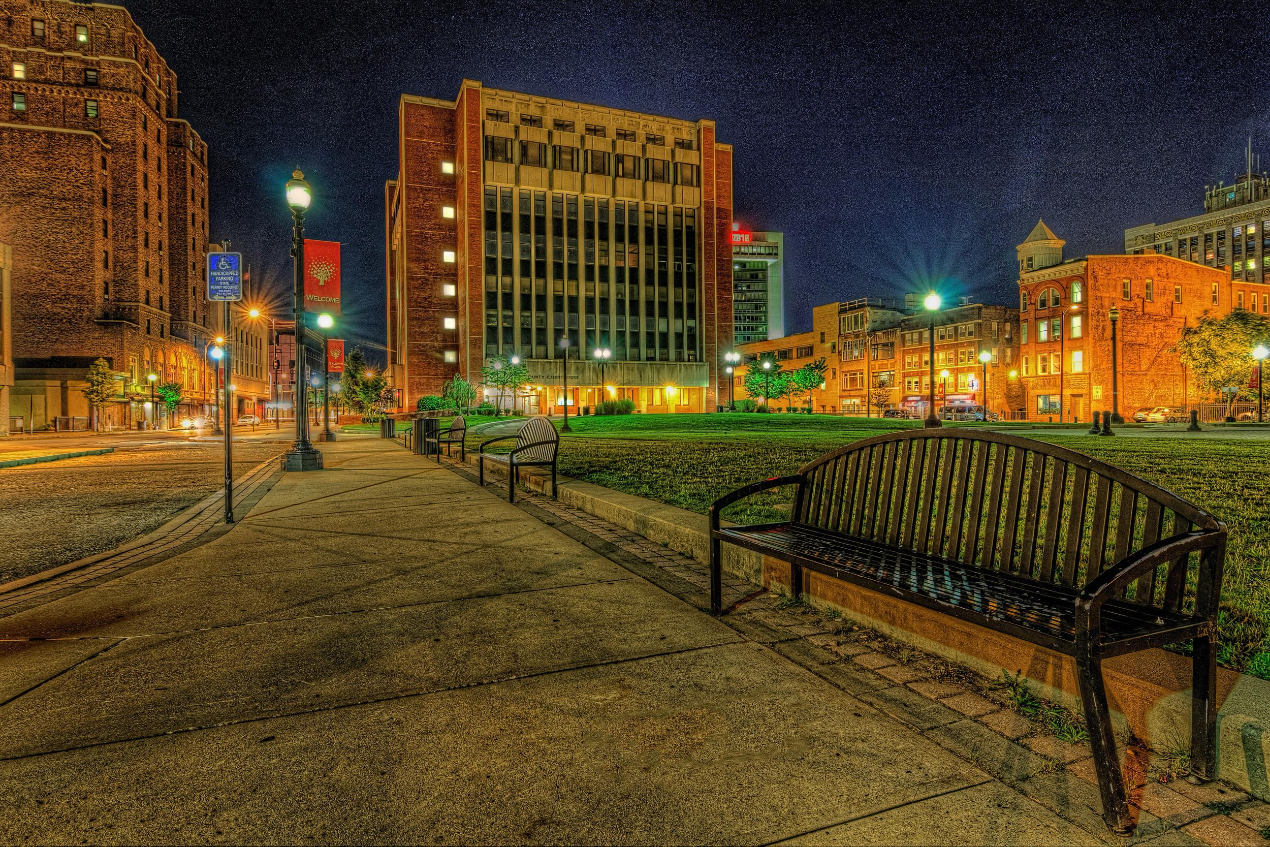 Downtown Bridgeport, Connecticut, USA.