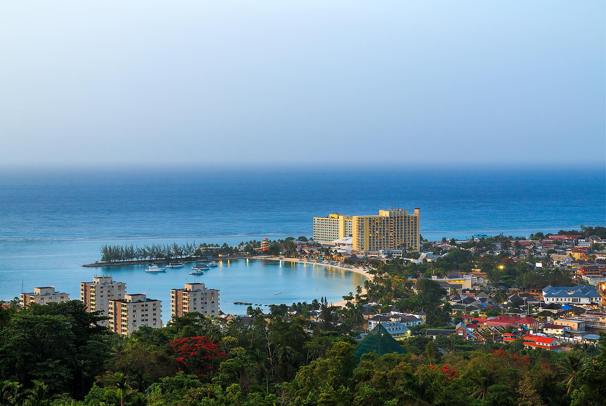 View of Ocho Rios in St Ann, Jamaica.