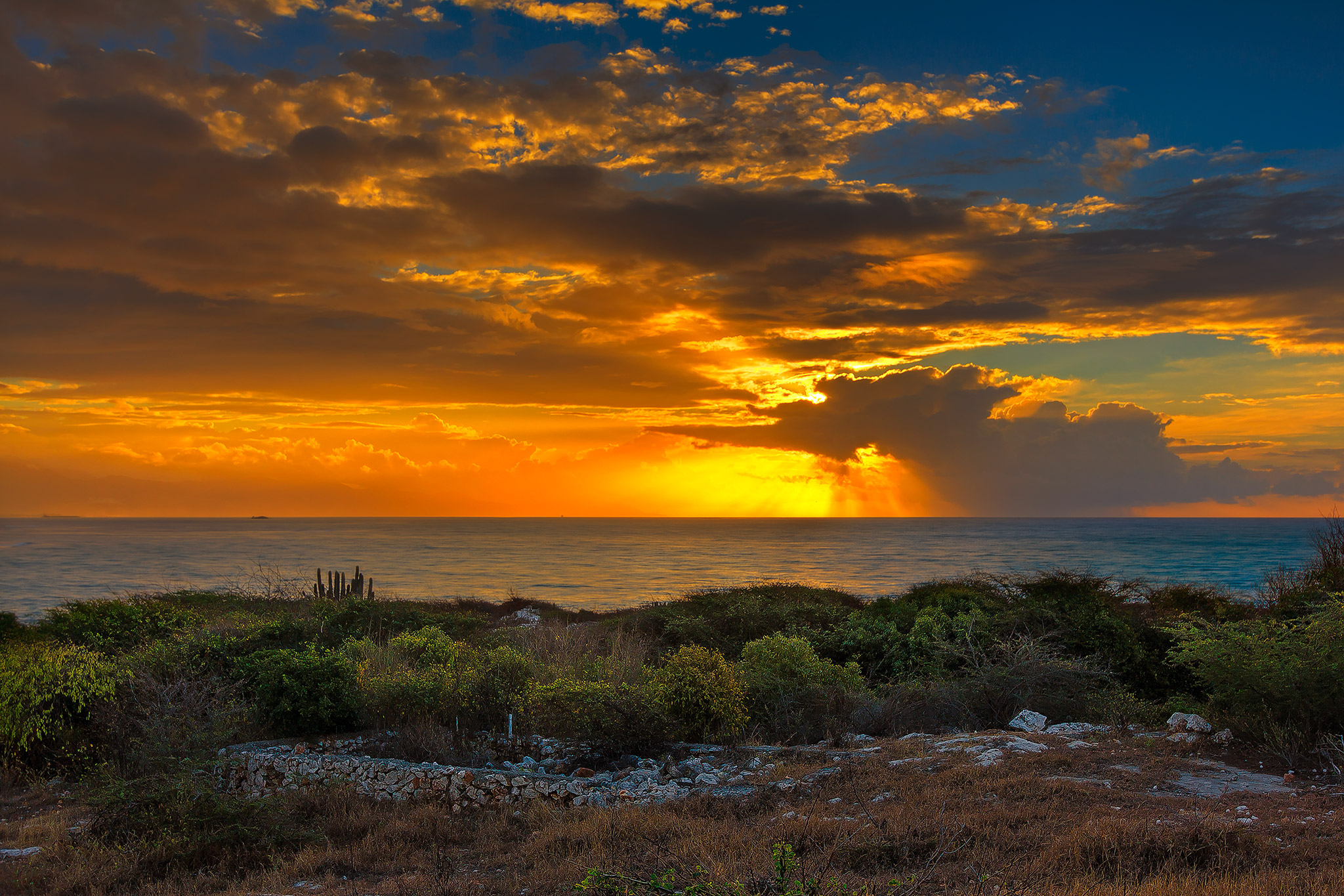 Sunrise view from Hellshire in St Catherine, Jamaica