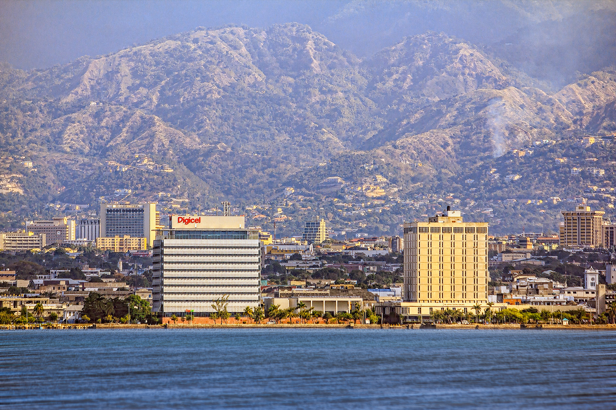 View of Downtown, Kingston, Jamaica.