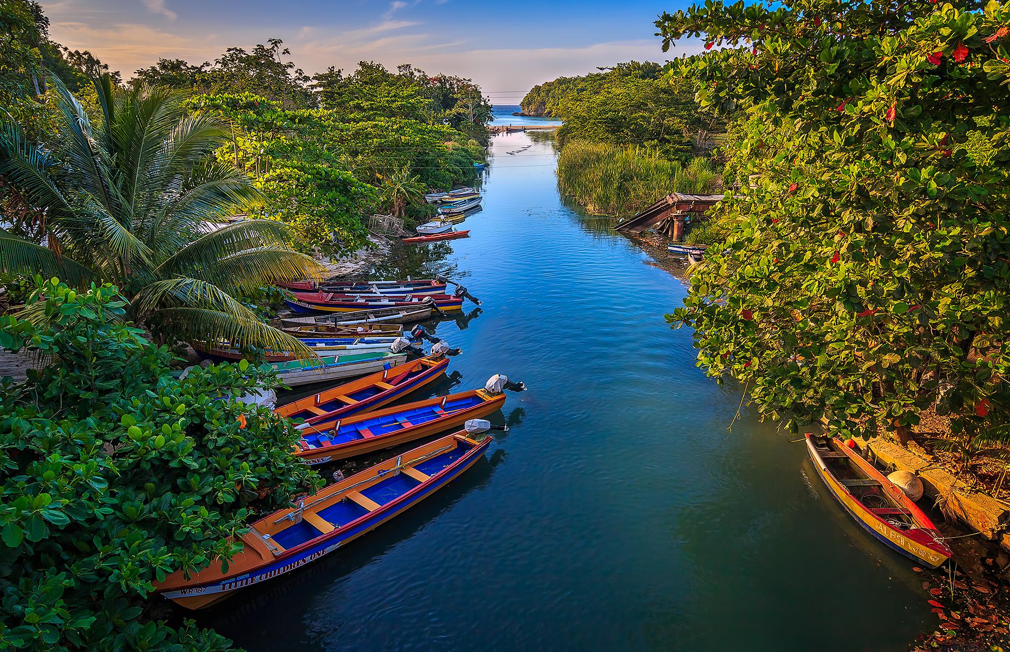 The White River in St Ann, Jamaica