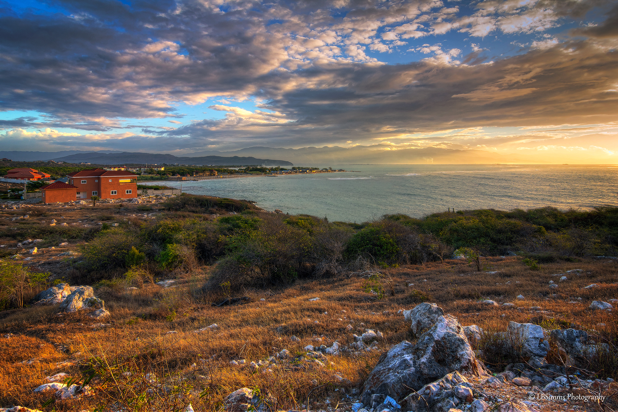 Early morning view from Hellshire in St Catherine, Jamaica