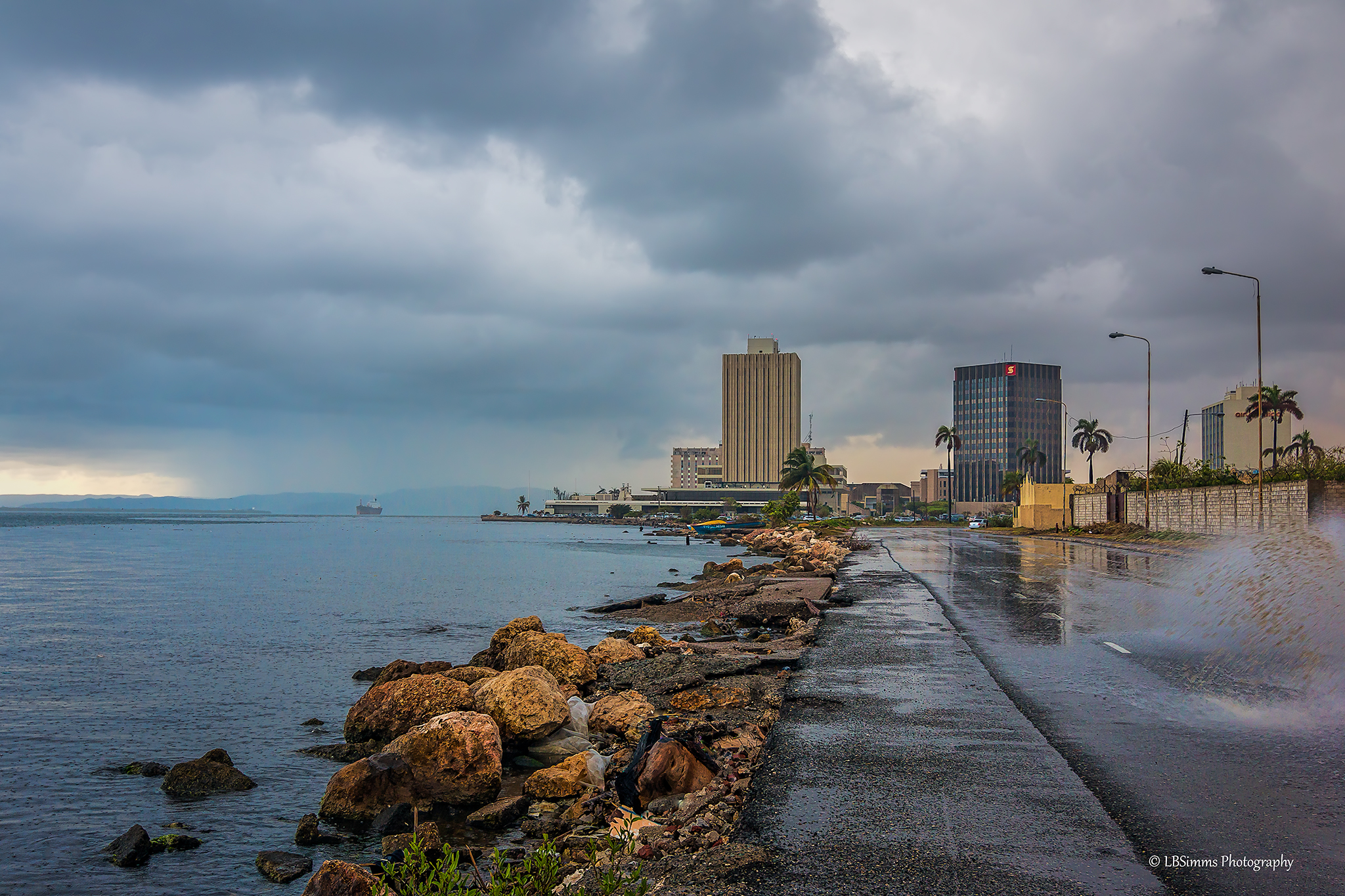After the rain in Downtown, Kingston, Jamaica.