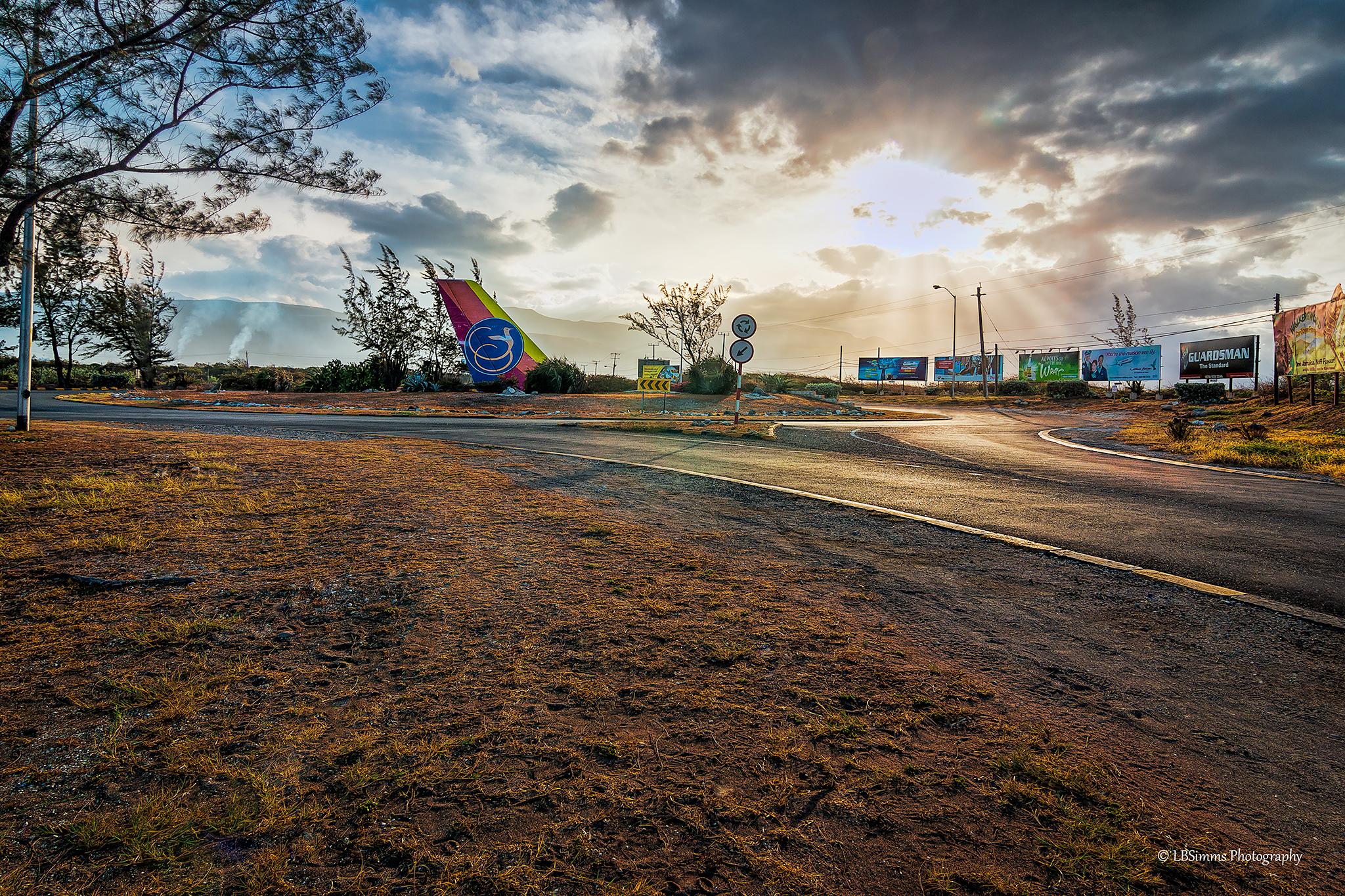 Palisadoes roundabout, Kingston, Jamaica.