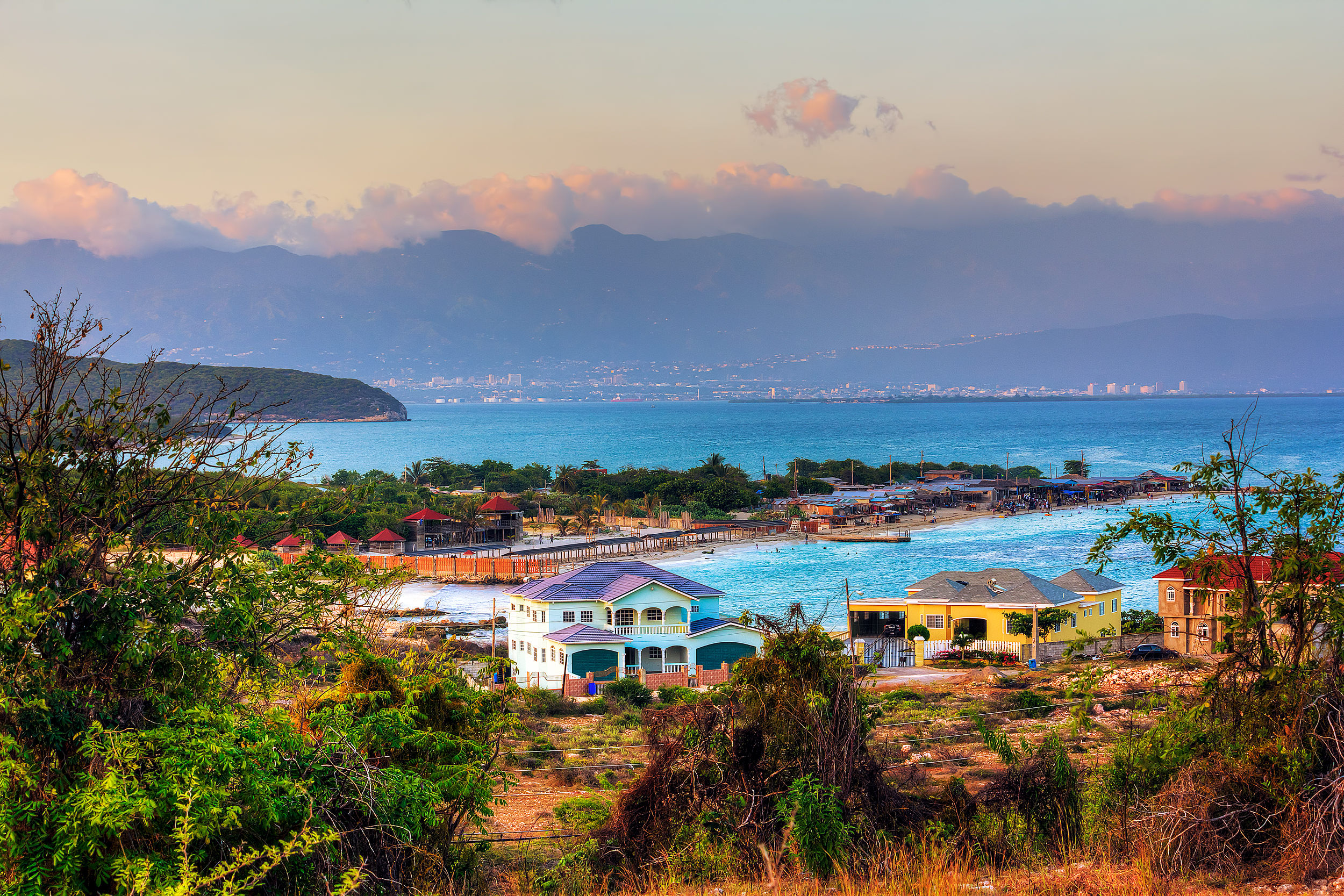 A beautiful morning view from Hellshire in Portmore, St Catherine, Jamaica.