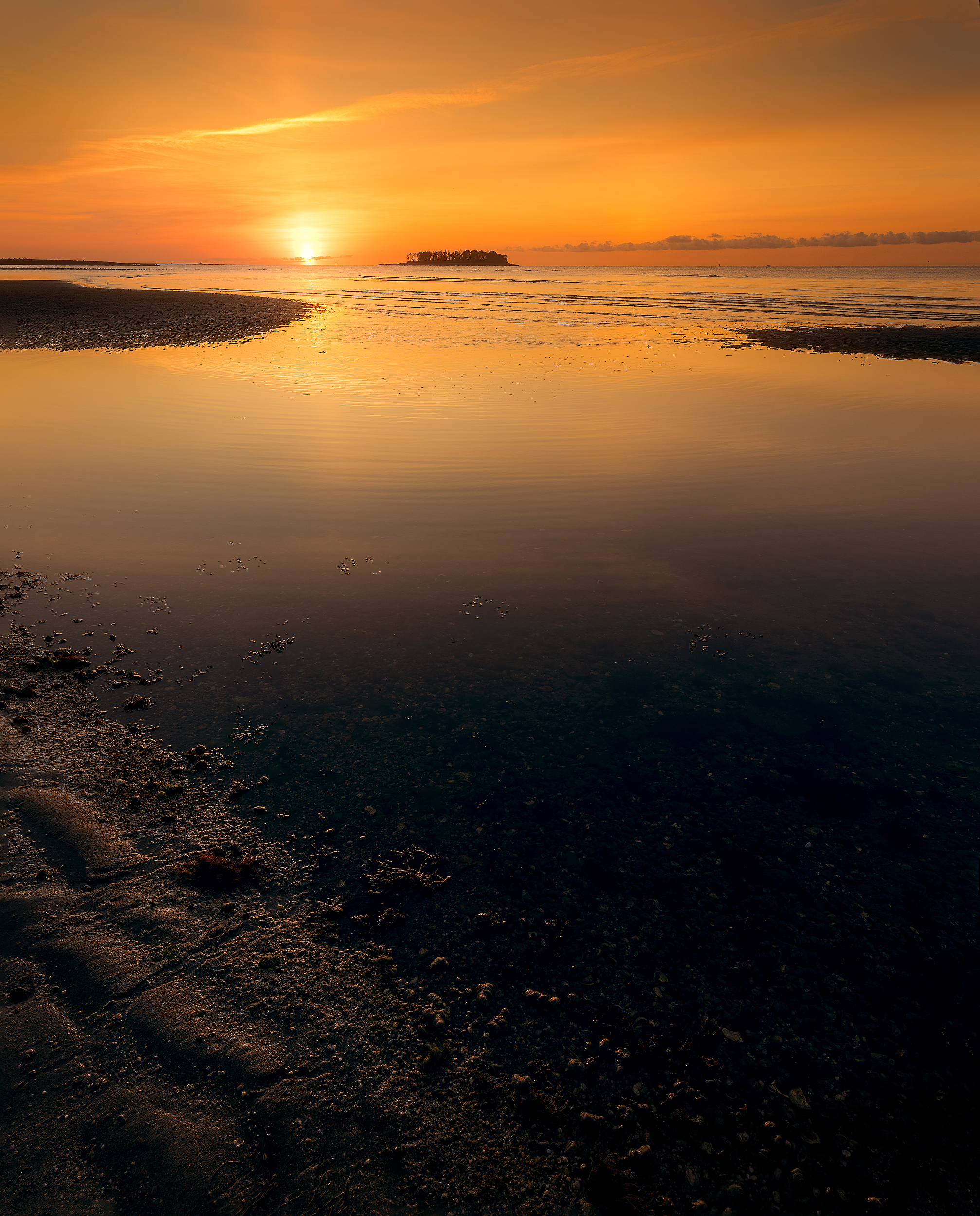 Sunrise at Silver Sands  each in Milford, Connecticut, USa.