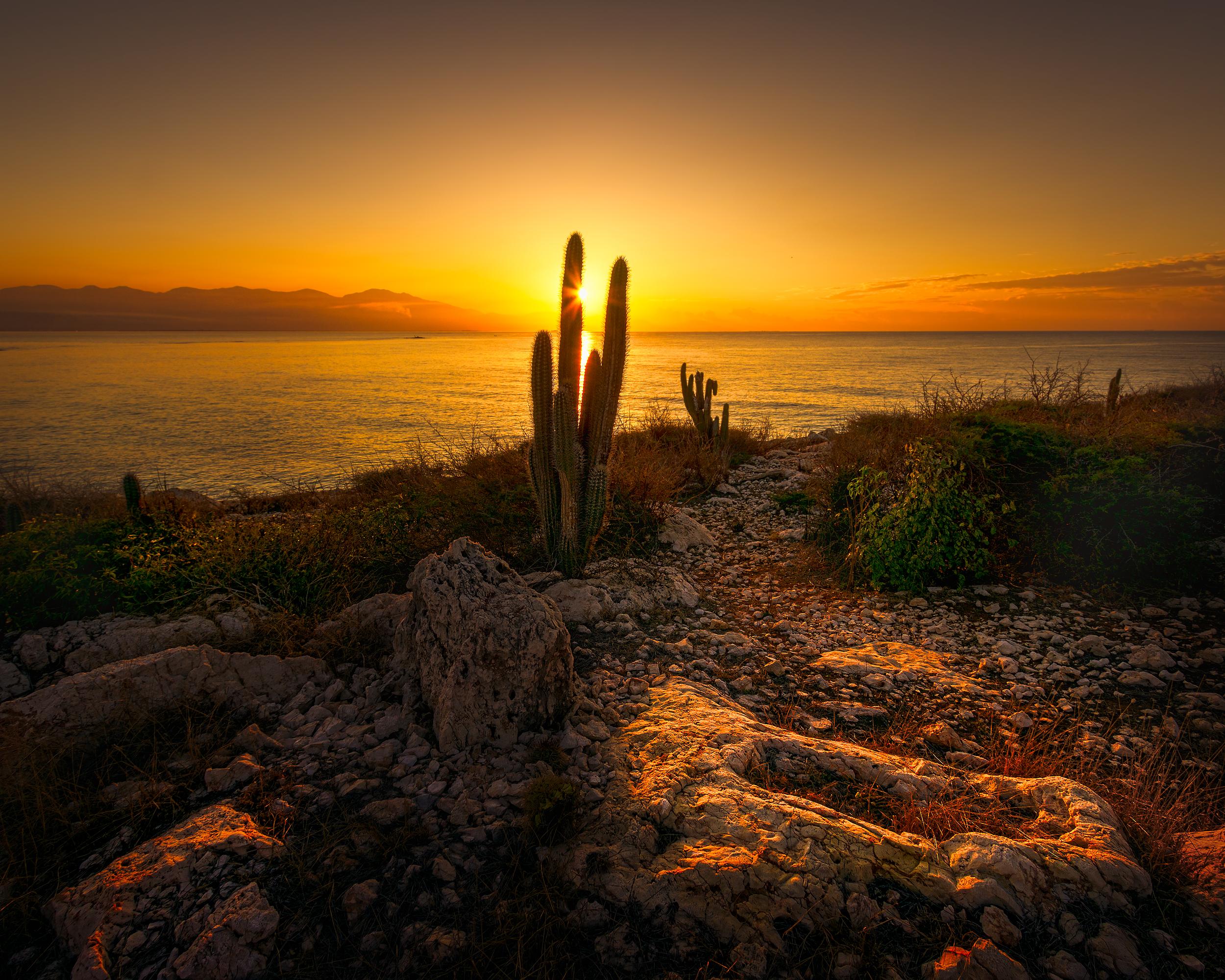 Sunrise in Hellshire, St Catherine, Jamaica.