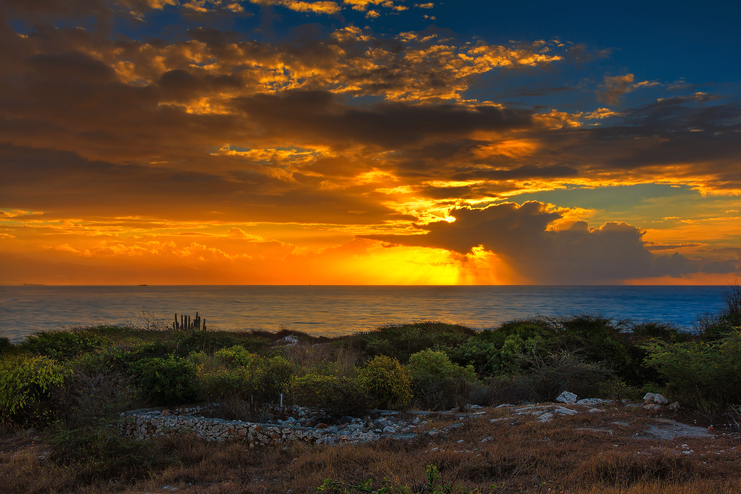Early morning view from Hellshire in St Catherine, Jamaica.