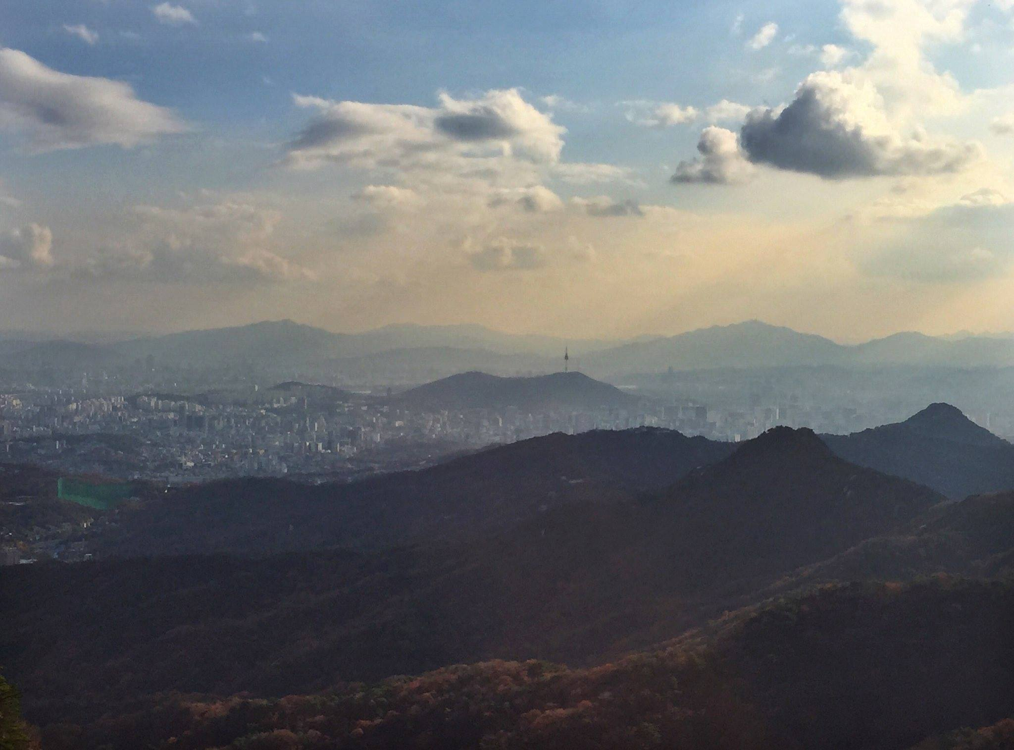 View from Bukhansan National Park