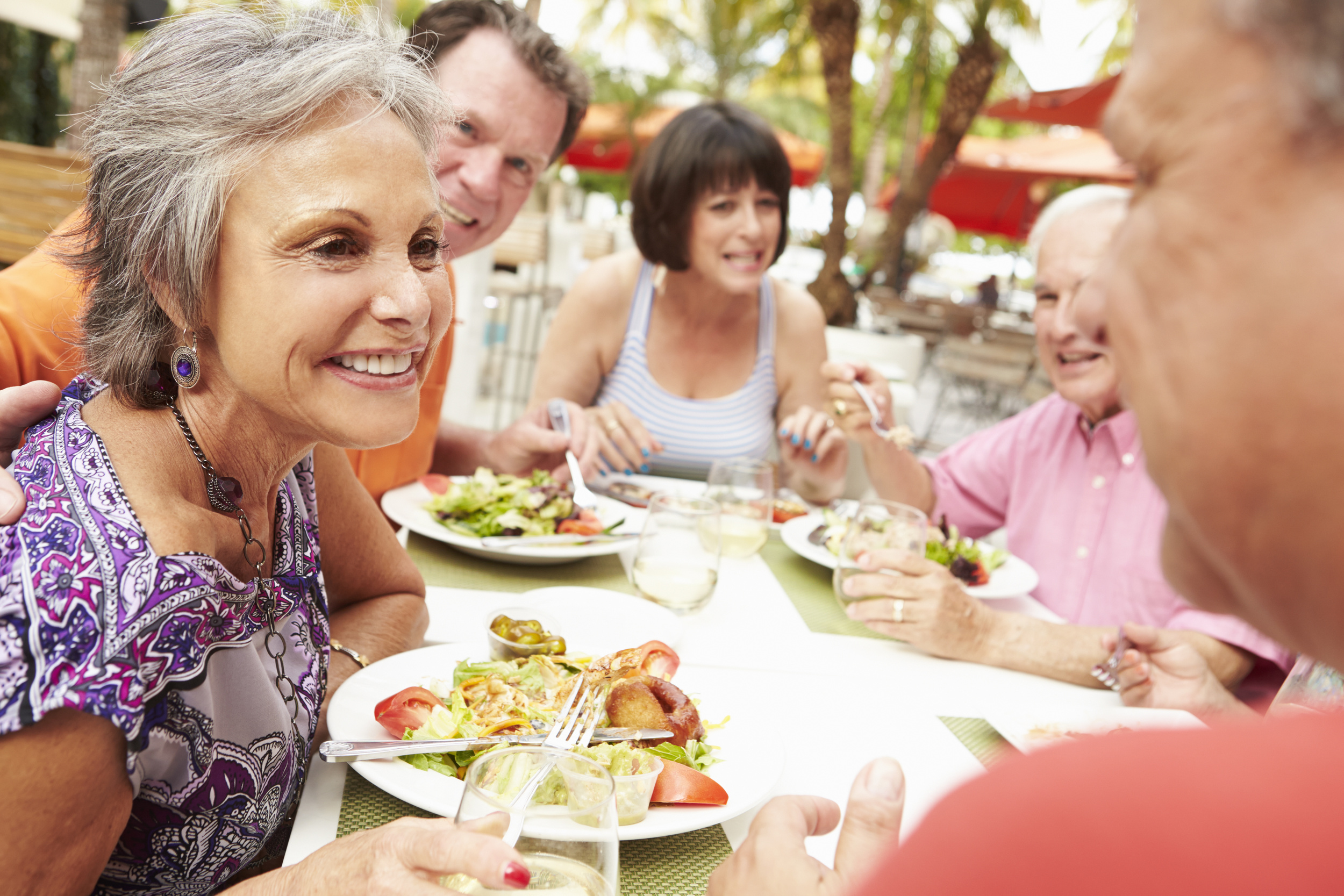 For the 50+ age group 3rd Tuesday of every month Meet at various restaurants with the occasional potluck at the church.
