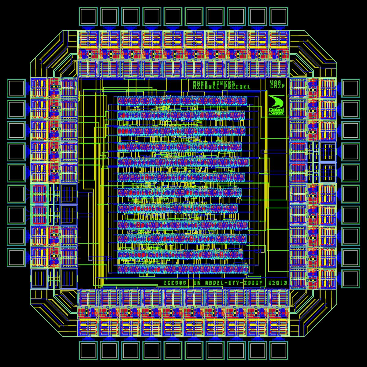 Layout of the VGA ASIC