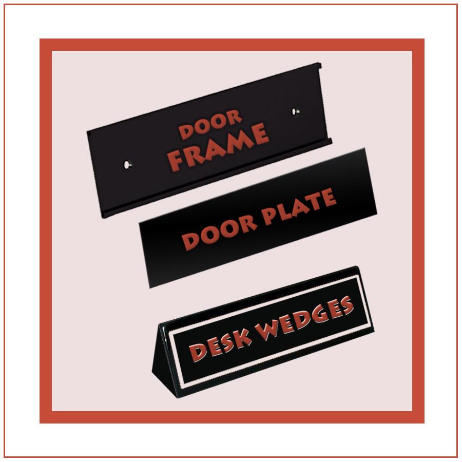 DOOR PLATE & DESK WEDGES