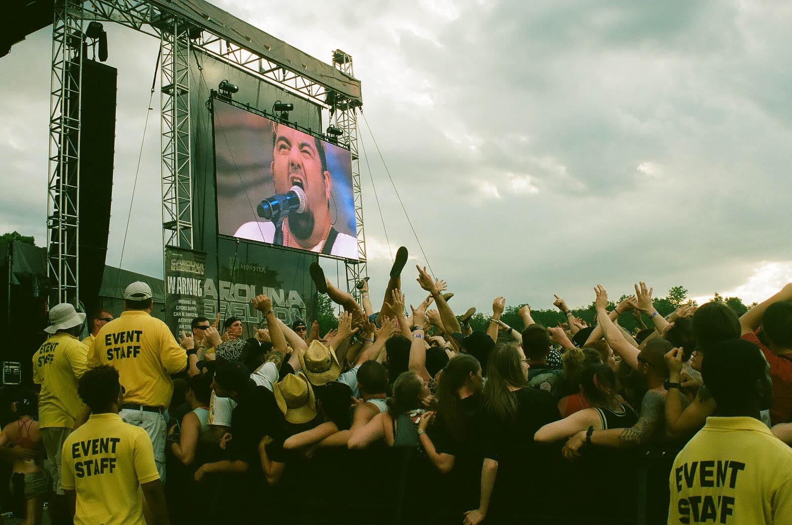The crowd goes wild during the Deftones set.