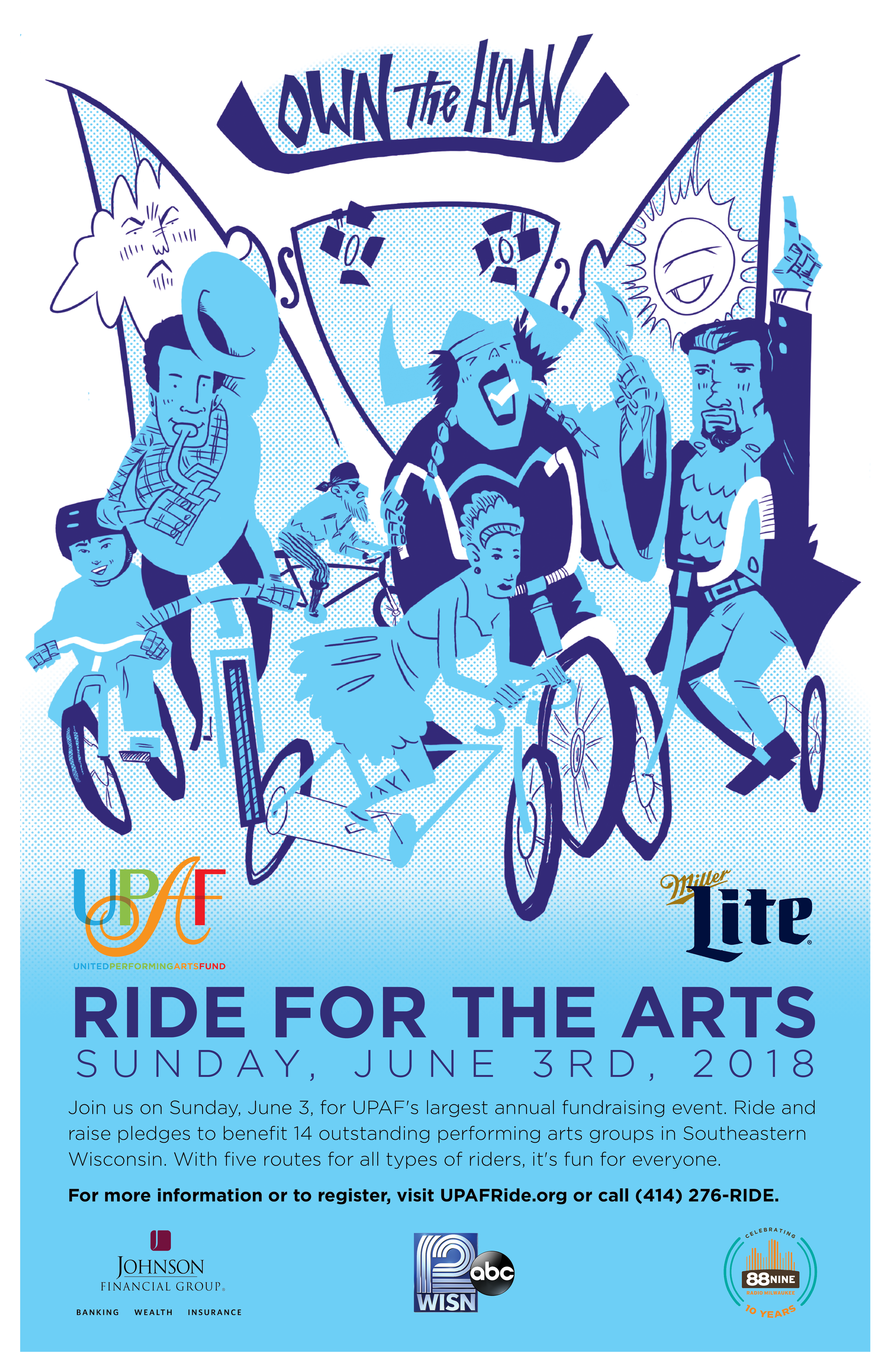 2018 UPAF Ride For The Arts Poster