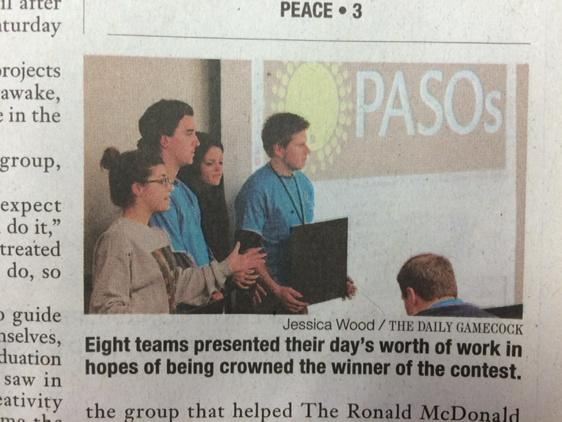 Look, ma! I made it in the  Daily Gamecock!