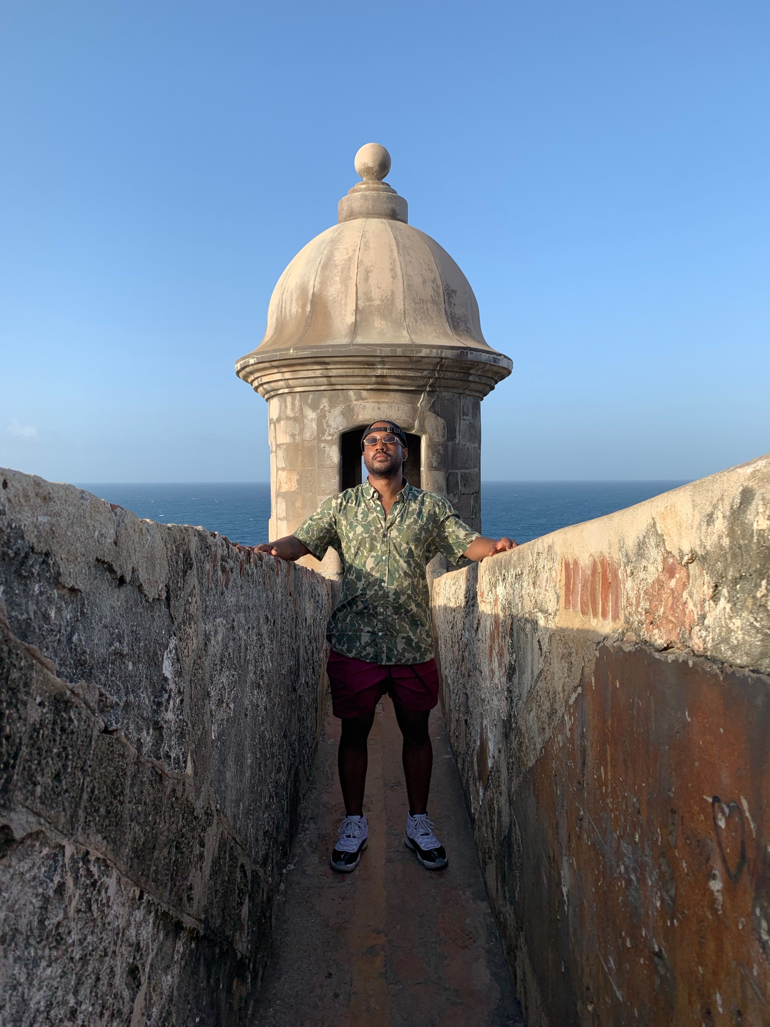 Photo opp in  las garitas  at El Morro or Castillo de San Cristóbal