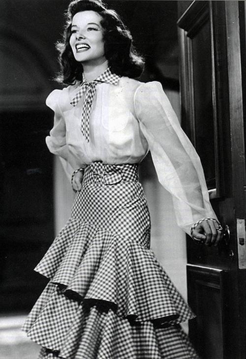 Katharine Hepburn + The Philadelphia Story + gingham 6.jpg