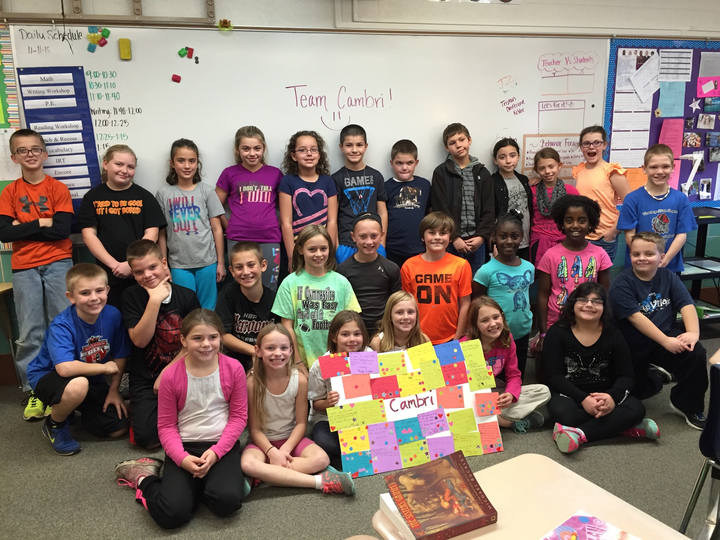 2015 - Students at Vicksburg Elementary make cards for children in the Pediatric Hospital, school bus drivers, janitors and school staff.