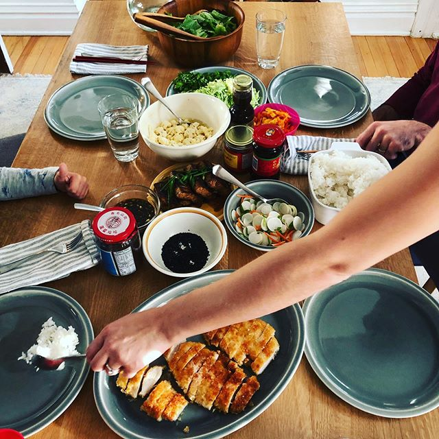 Family meals are the best meals. #homecookd #thumbsup #homecooking #katsu #goodeats