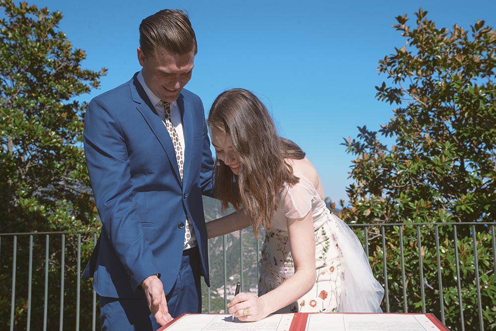 Kelsey Genna Elopement Amalfi Marriage
