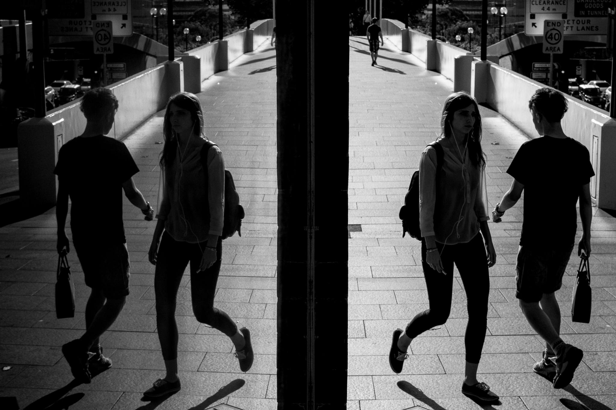 Search out reflections for symmetry in shop windows | Haymarket, 2015