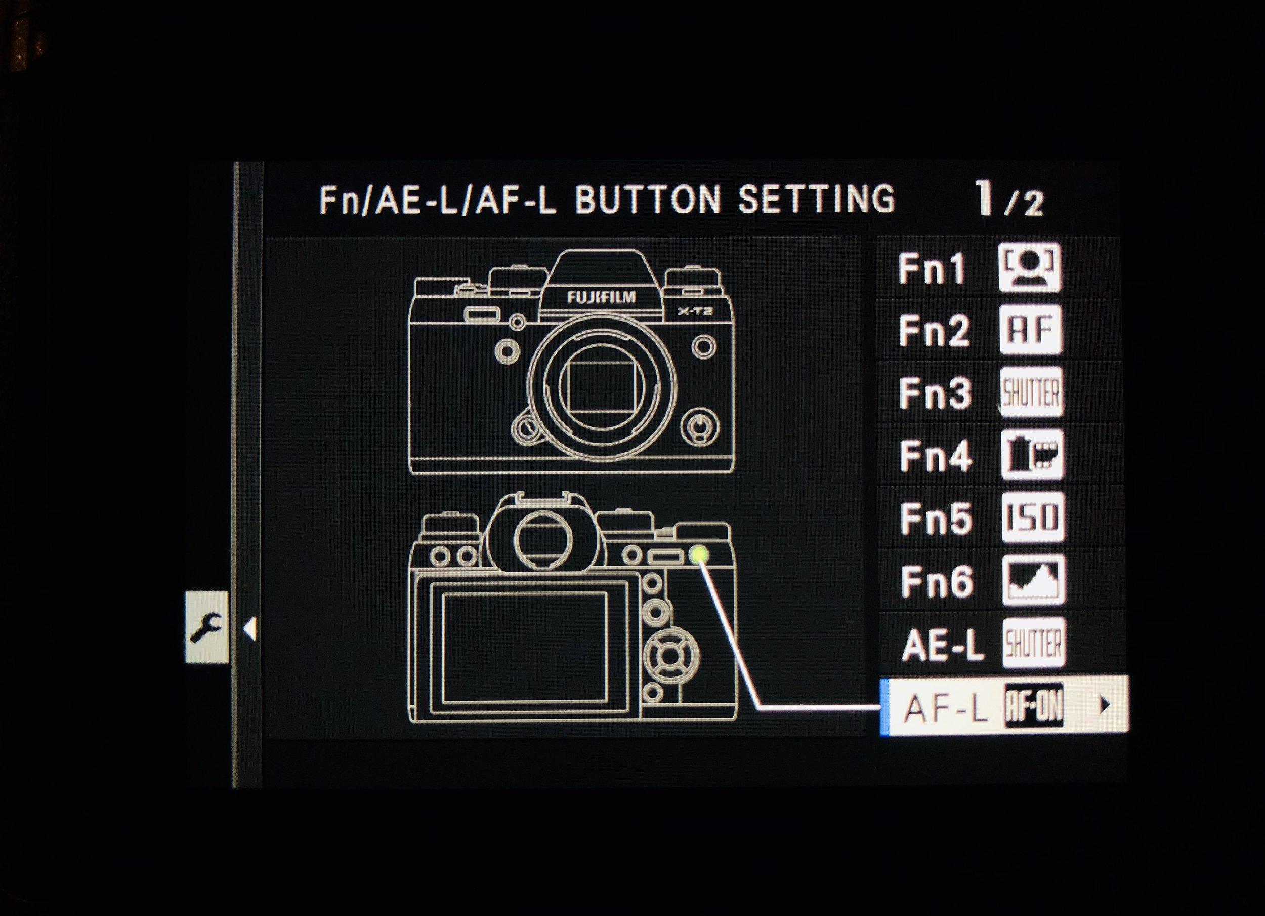 Set AF-L to AF-On - Set Up>Button/Dial Setting>Fn/AE-L/AF-L Button Setting>AF-L>AF-On