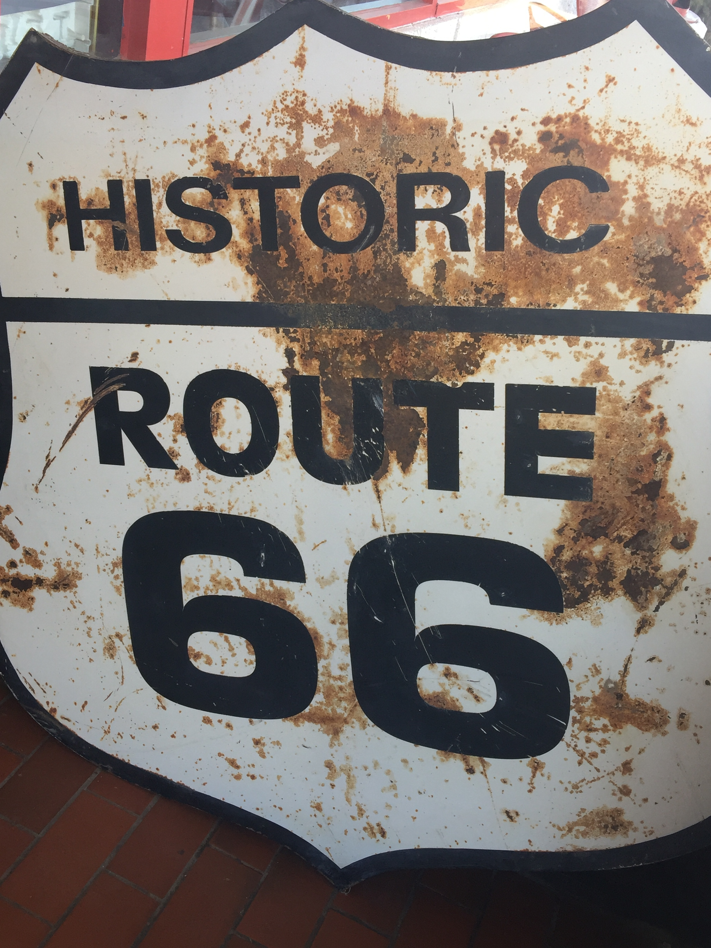 Old Historic Route 66 Sign.