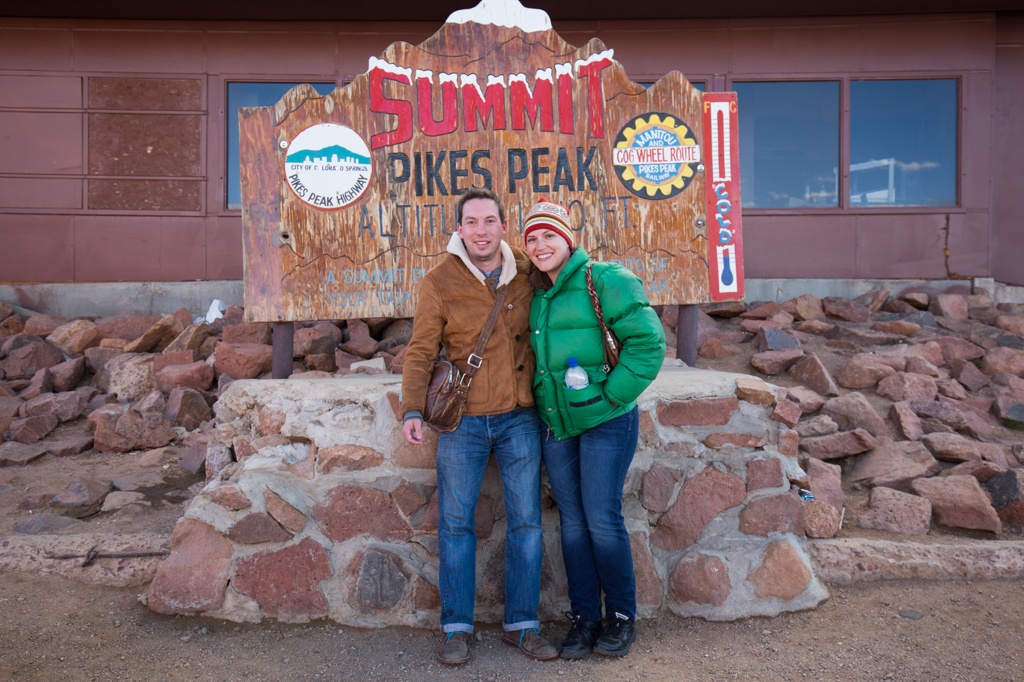 My wife Taylor and I at the Pikes Peak Summit. 8/14