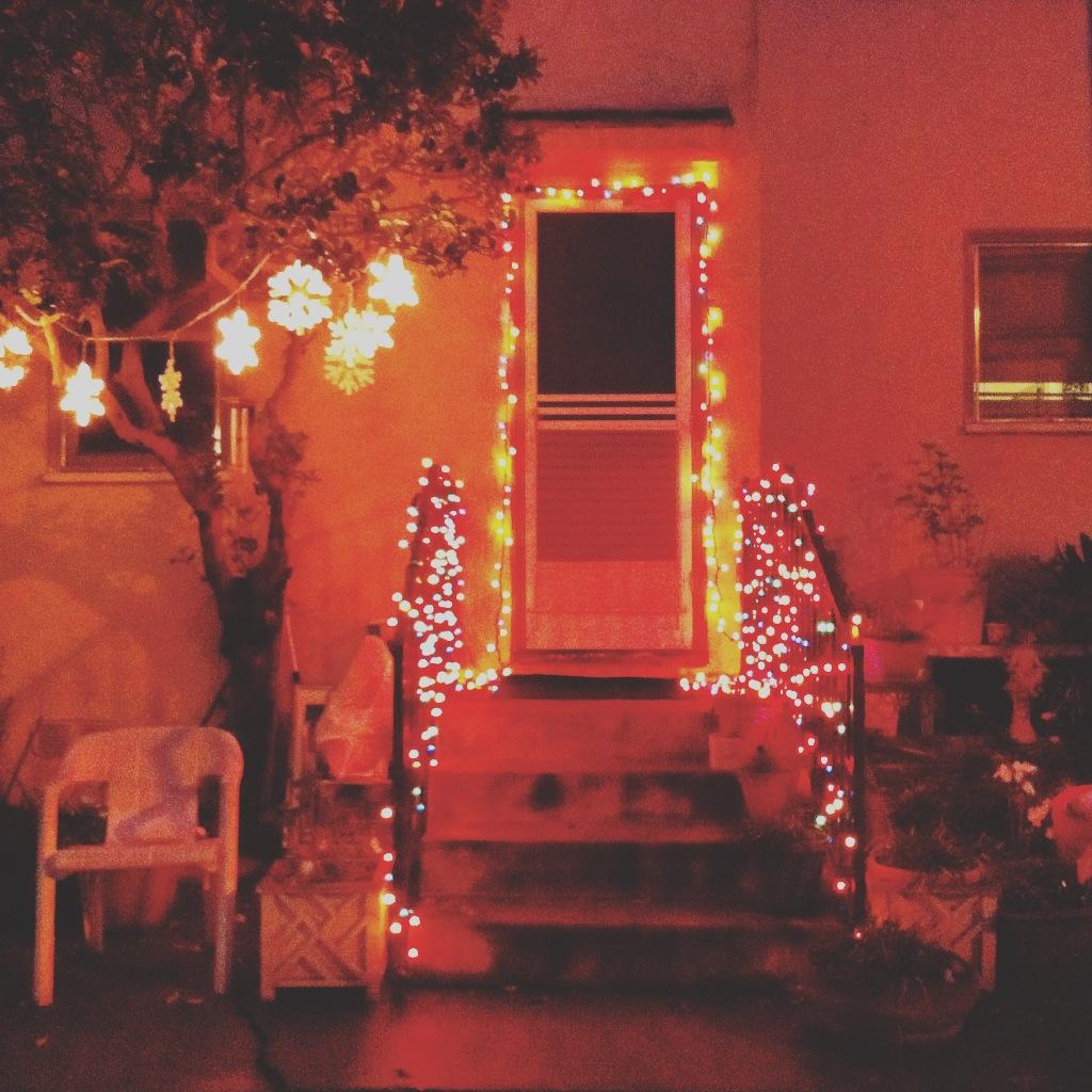 neighborhood lights up