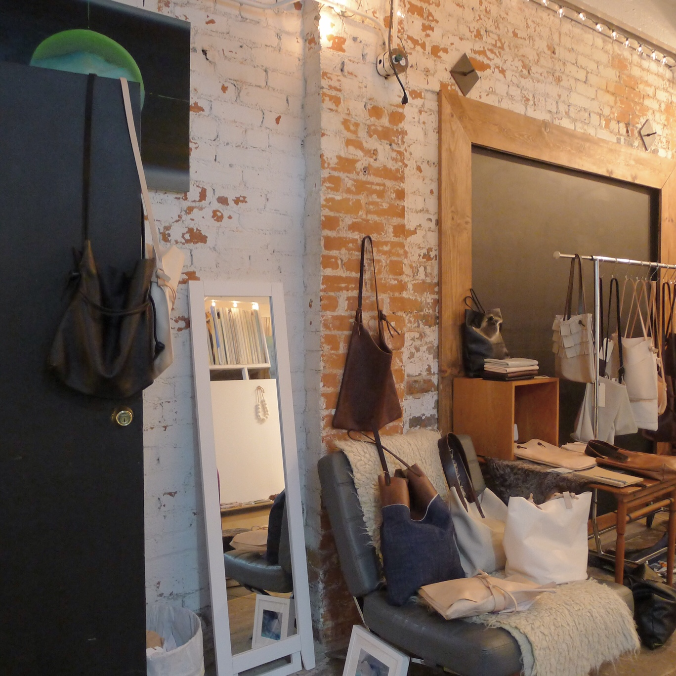 specialty dry goods installed at pop up.