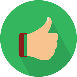 thumbs up badge