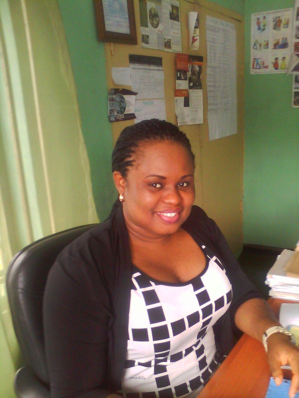 Ekaette at the office