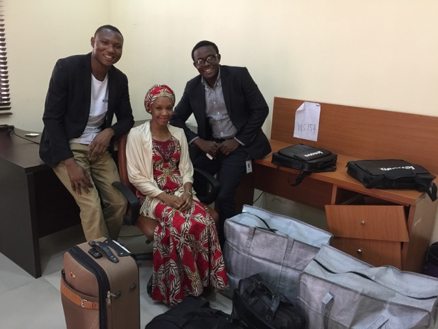 Binfa and Yusuf left for Borno State and Samira is working from Abuja.