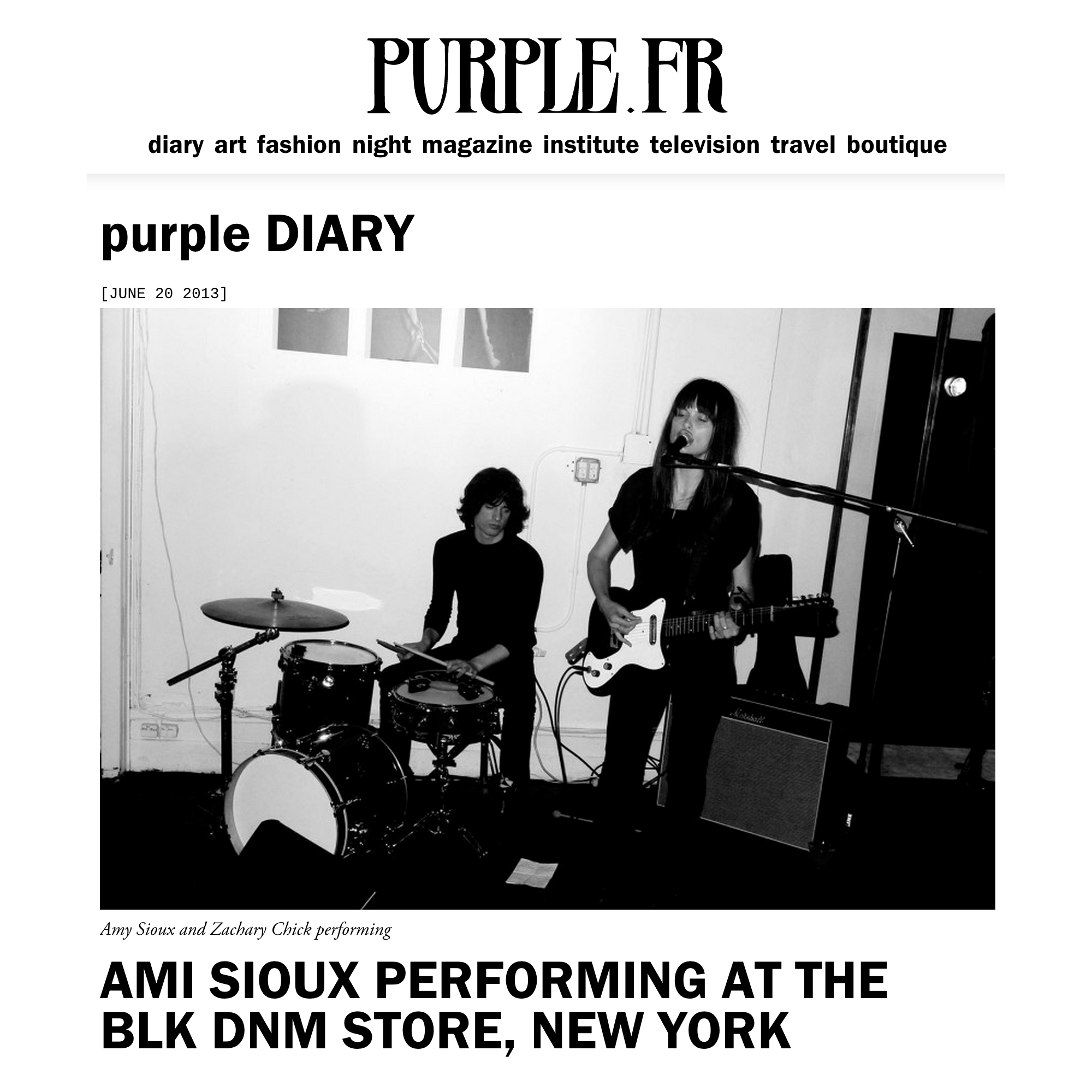 Purple Diary / June 2013