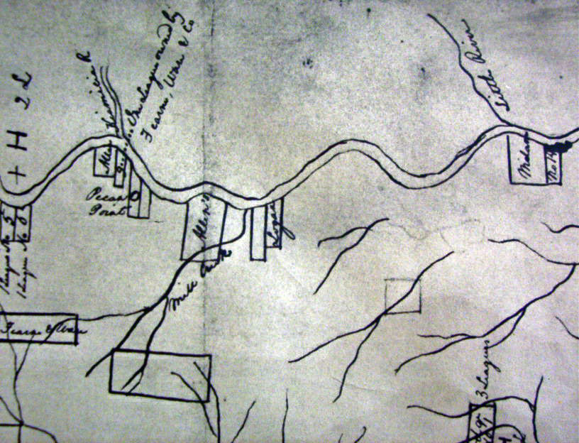 Early Map of Red River settlements
