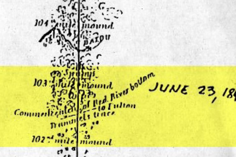 1841 Boundary Survey - Republic of Texas/U.S.