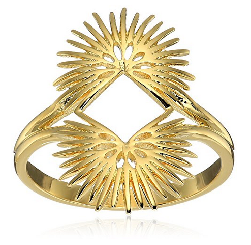 "Noir Jewelry ""Palm Leaves"" Ring"