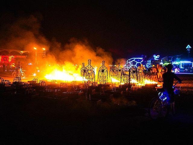 🔥 Fire installation at Burning Man. —- #burningman #art #fire #burningman2019 #burningmanphotos