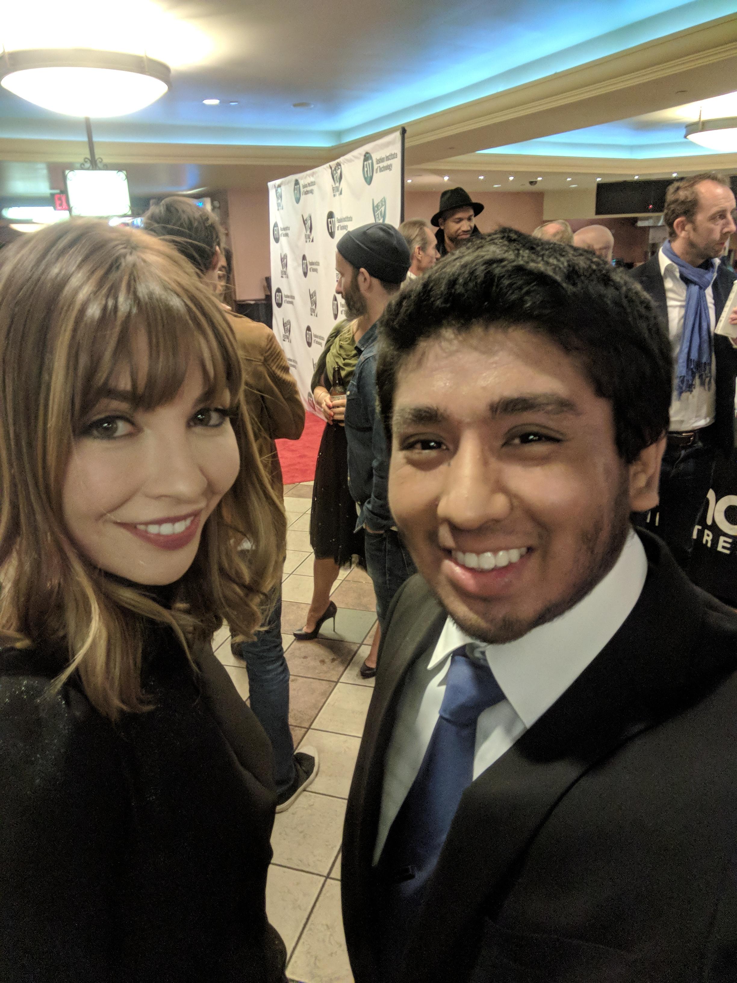 Mizanur Rahman with  Alix Bénézech