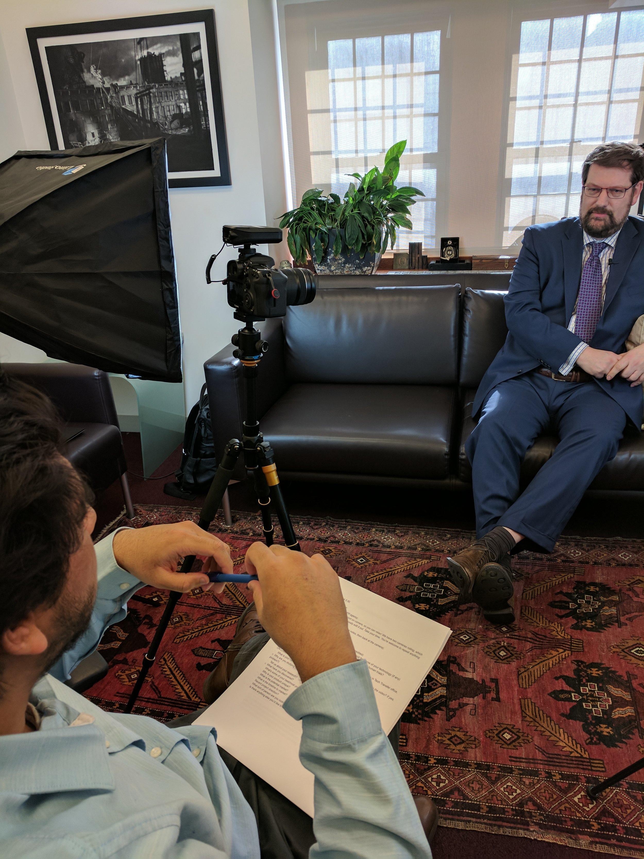 Mizanur Rahman interviewing Andreas H Hielscher