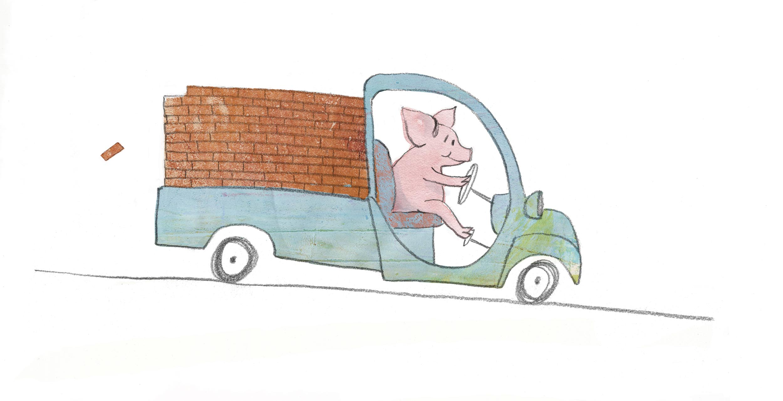 pig with gelli print bricks 10-16-2017.jpg
