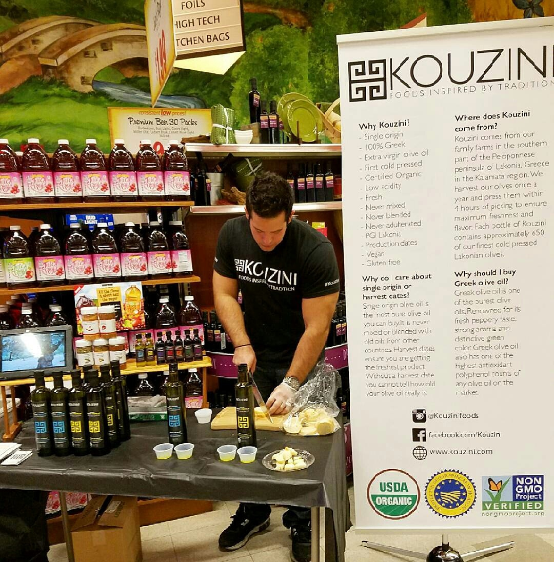 Wegmans demo Kouzini extra virgin olive oil