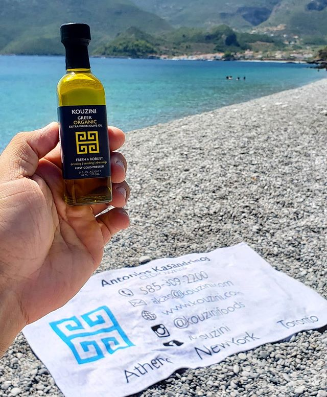 Kouzini hits the beach today! Also, for those wondering, yes, we did use kouzini as a tanning oil.😂🌞 Moisturizing and tan! . . #kouzini #oliveoil #fresh #coldpressed #singleorigin #greek #glutenfree #paleo #primal #vegetarian #beach #towel #mediterranean #water #mountain #view #tanning #sun #summer #august #organic #nongmo #sand #mini #travel #evoo #togo #moisturizing #tan  To your health, Kouzini www.kouzini.com