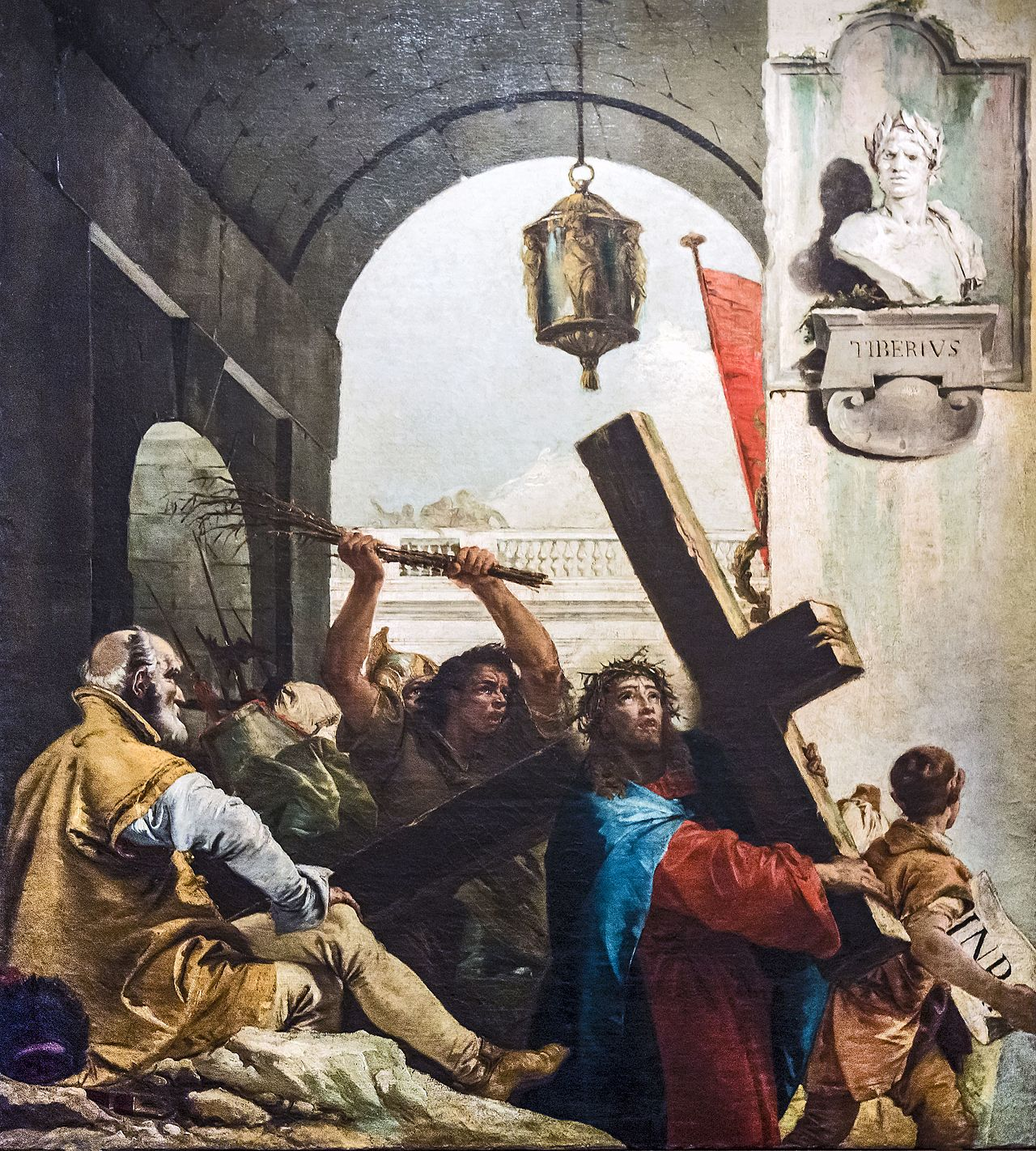 Chiesa_di_San_Polo_(Venice)_-_VIA_CRUCIS_II_-_Jesus_carries_his_cross_by_Giandomenico_Tiepolo.jpg