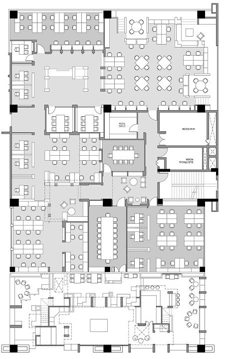 QA Infotech Coworking - plan