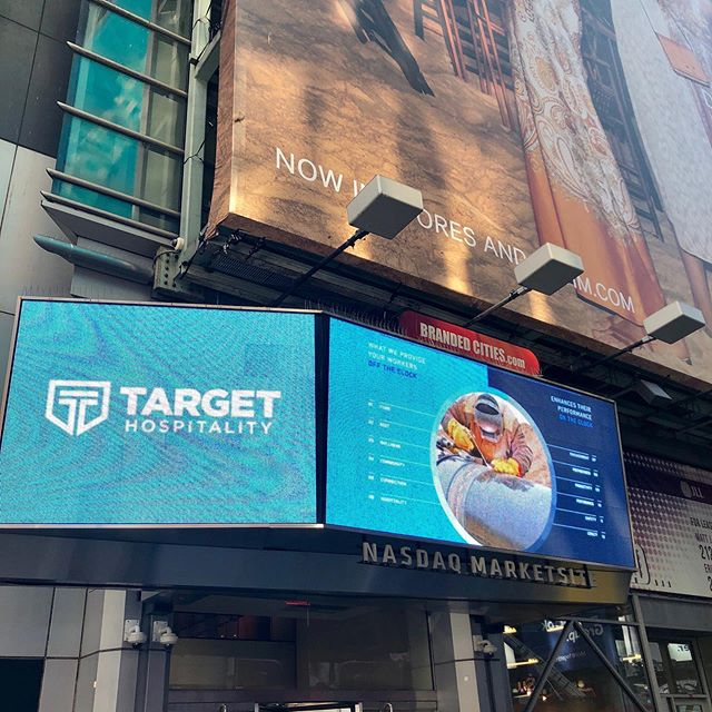 Fun when you see a video that you worked on with @brandextract airing in Times Square. #targethospitality #808inc #brandextract