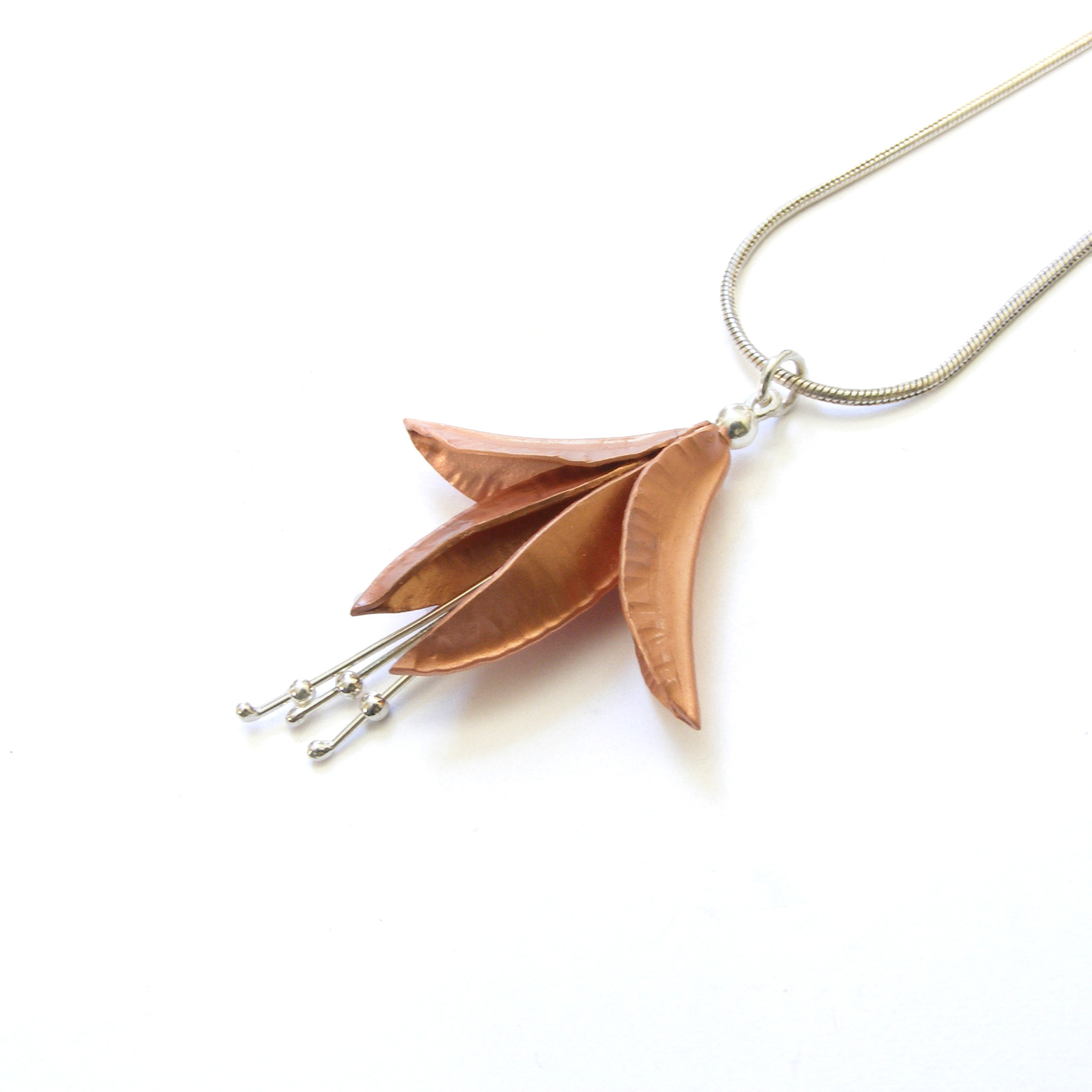 Copper Fuchsia Pendant