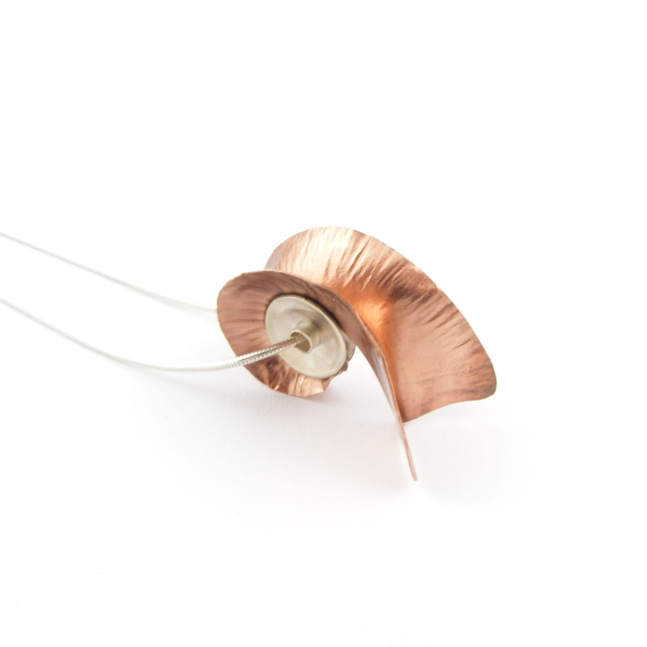 Copper Nautilus Pendant