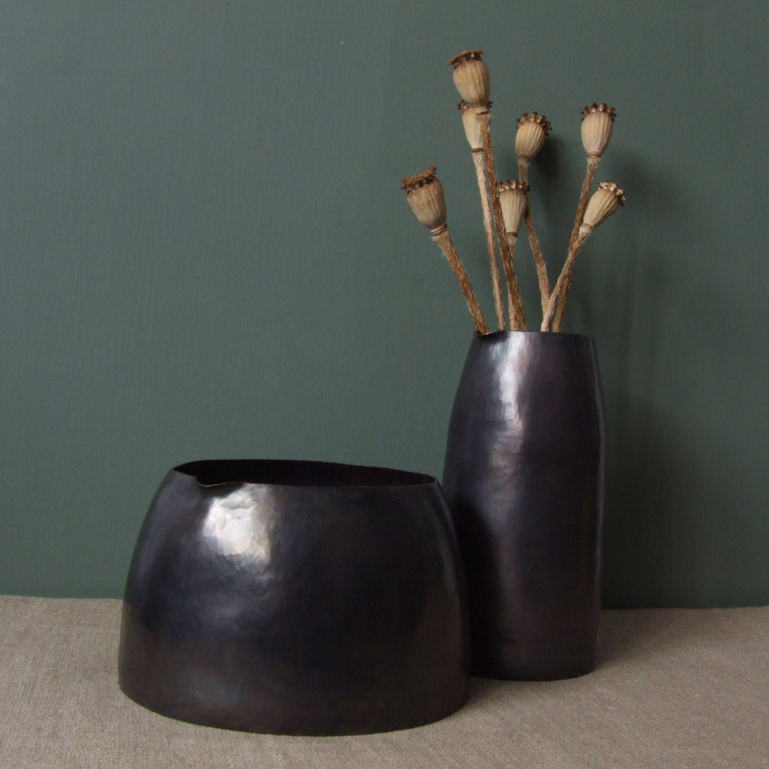 Pout Vessels - Oxidised Copper