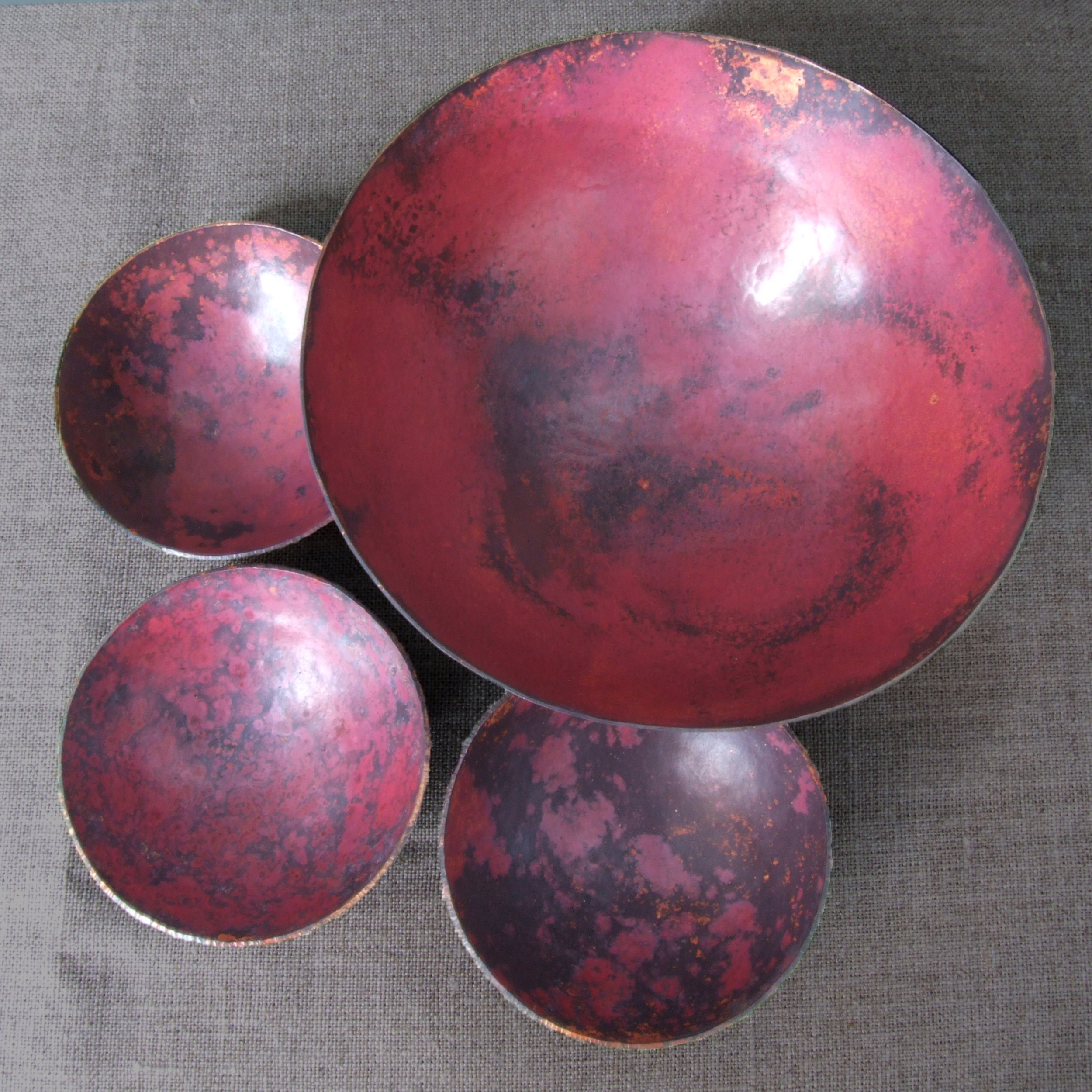Copper Bowls - Salt Patinated